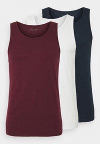 Pier One - 3 PACK - Maglietta intima - dark blue/bordeaux/off-white - 6