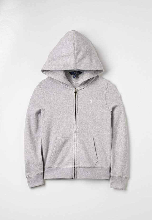 DRAPEY HOODIE - veste en sweat zippée - light grey heather