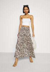 Bec & Bridge - FORBIDDEN FORREST SKIRT - Maxi skirt - black/pink - 1