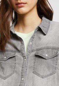 Vila - Button-down blouse - grey - 4