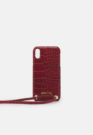 YUNA IPHONE XR HANDYKETTE NECKLACE - Phone case - bordeaux