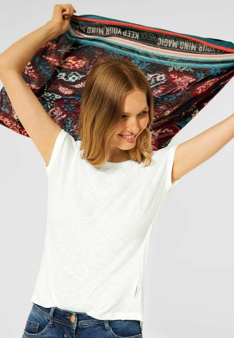 Cecil - IN UNIFARBE - Basic T-shirt - weiß