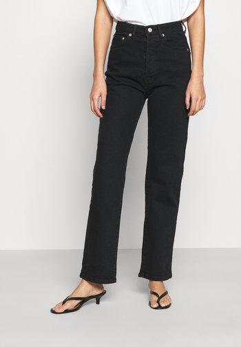 HIGH WAIST - Jeans straight leg - black