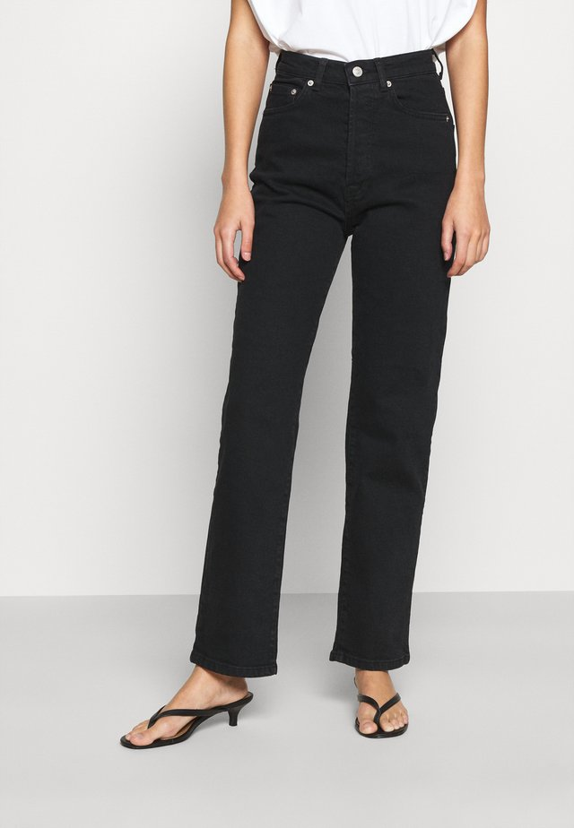HIGH WAIST - Jeans straight leg - black