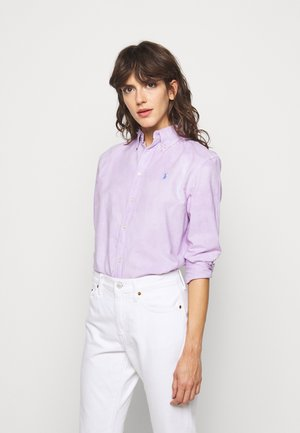 RELAXED LONG SLEEVE - Button-down blouse - english lavender