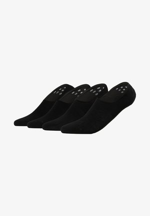 INVISIBLE SNEAKER 4 PACK - Ponožky - black