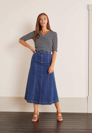 EVERDENE  - A-line skirt - mittleres vintageblau