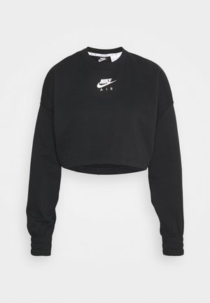 AIR CREW CROP - Sweatshirt - black/white