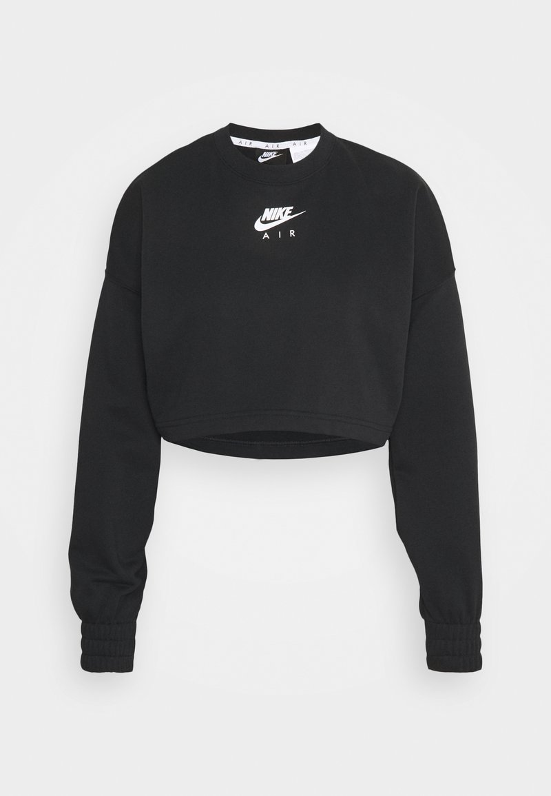 Nike Sportswear - AIR CREW CROP - Sweater - black/white