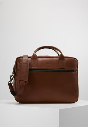 CLEAN BRIEF 2 ROOMS - Briefcase - brown