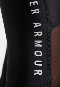 Under Armour - ANKLE CROP GRAPHIC - Legginsy - black/metallic silver - 5