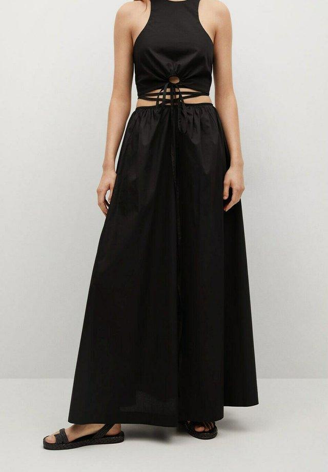 MILOS - Pleated skirt - schwarz