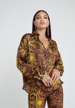 Button-down blouse - gold