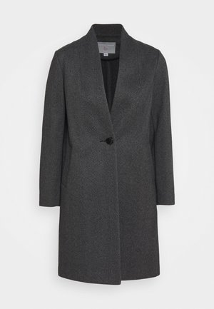 UNLINED COLLARLESS JACKET - Classic coat - black