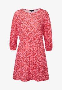 Wednesday's Girl - DROP SHOULDER BALLOON SLEEVE MINI DRESS - Trikoomekko - red/pink - 3