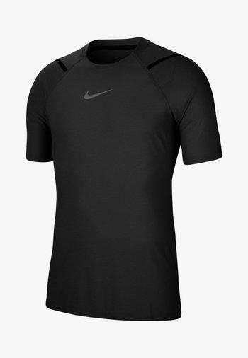 T-shirt med print - black/htr/iron grey