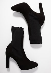 Unisa - PORT - High heeled ankle boots - black - 3