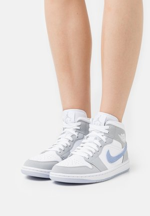 WOMENS AIR 1 MID - High-top trainers - white/aluminum/wolf grey