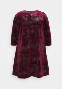 CAPSULE by Simply Be - V NECK 3/4 SLEEVE SWING DRESS - Cocktail dress / Party dress - mulberry - 1