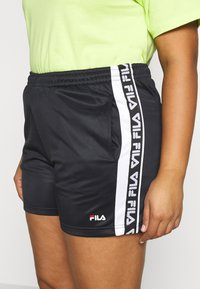 Fila Plus - TARIN HIGH WIASTED - Short - black/bright white - 4