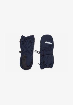 Fingerless gloves - dark sapphire