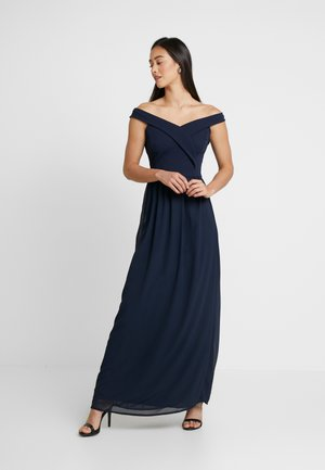 OFF THE SHOULDER MAXI - Occasion wear - navy
