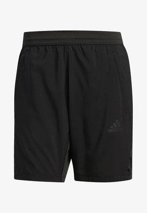 AEROREADY 3-STRIPES 8-INCH SHORTS - Sports shorts - black