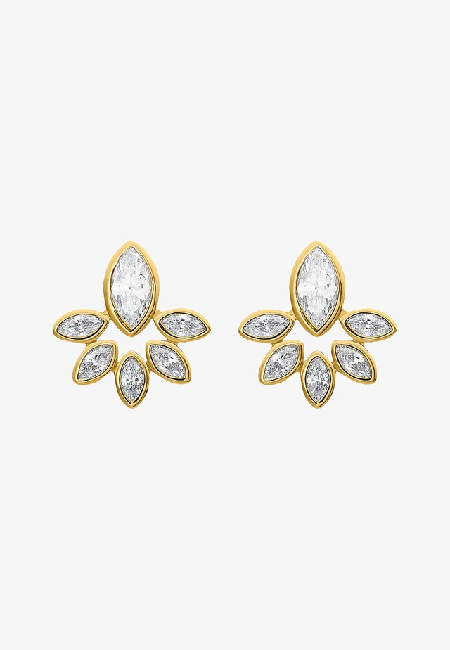 Earrings - yellow gold-coloured