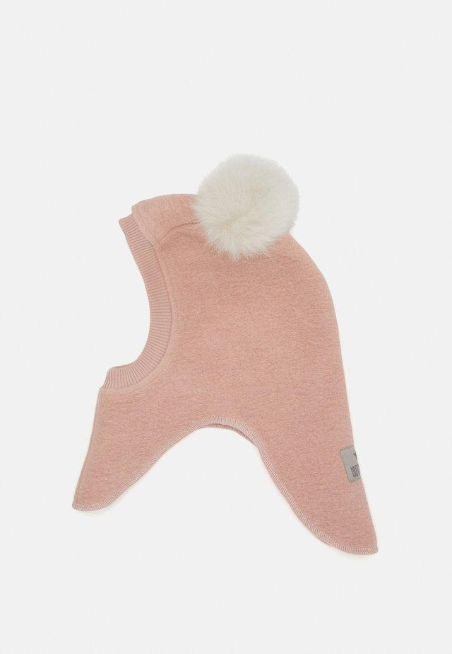 BIG BEAR POMPOMS - Beanie - dusty rosa/light camel