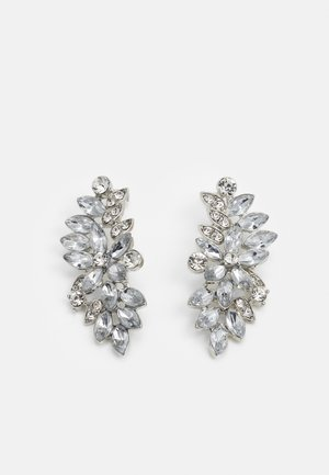 PCLAURY EARRINGS - Korvakorut - silver-coloured/clear