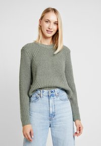 ONLY - ONLFIONA - Jumper - balsam green/white melange - 0
