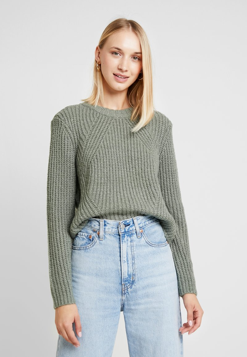 ONLY - ONLFIONA - Jumper - balsam green/white melange