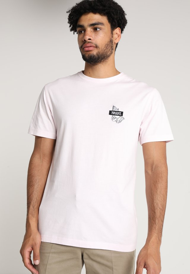 TRUST ICON TEE - T-shirt print - pale pink/black