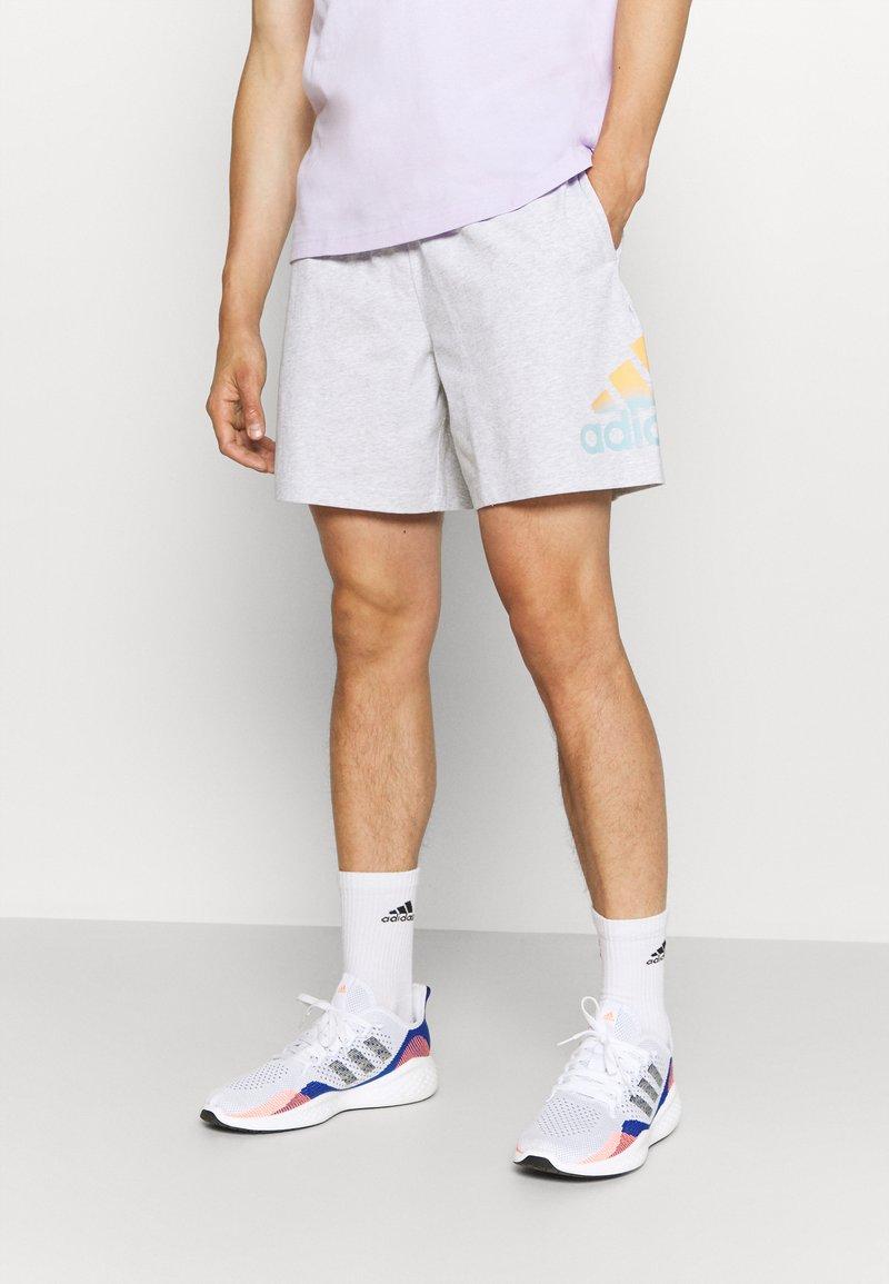 adidas Performance - Sports shorts - light grey heather