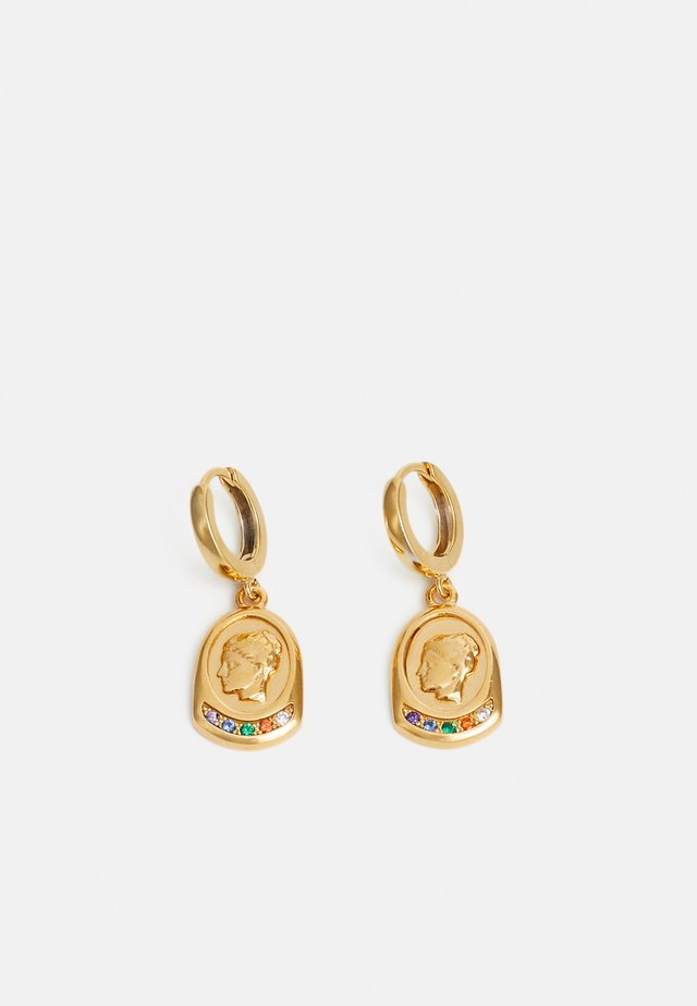 YGIEIA SLIP ON EARRINGS - Øreringe - gold-coloured/multi
