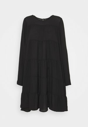 VMZIGGA SHORT O  NECK - Day dress - black