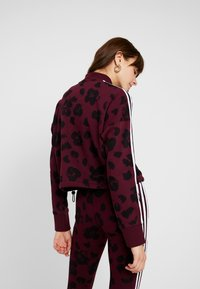 adidas Originals - BELLISTA ALLOVER PRINT PULLOVER - Sweatshirt - maroon/black - 2