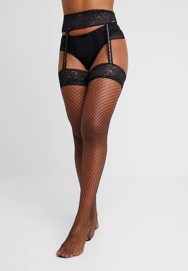PULL ON SUSPENDER - Tights - black