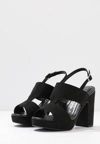 New Look Wide Fit - WIDE FIT ZARTY  - Sandály na vysokém podpatku - black - 4