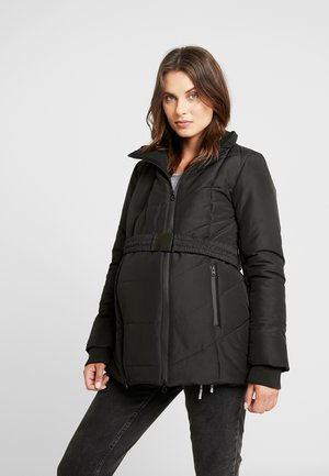 COAT DOUBLE ZIPPER PADDED - Chaqueta de invierno - black