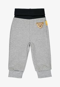 Steiff Collection - MIT GROSSEM TEDDYBÄRMOTIV - Tracksuit bottoms - soft grey melange - 0