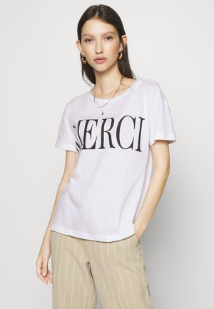 MERCI TEE - T-Shirt print - white