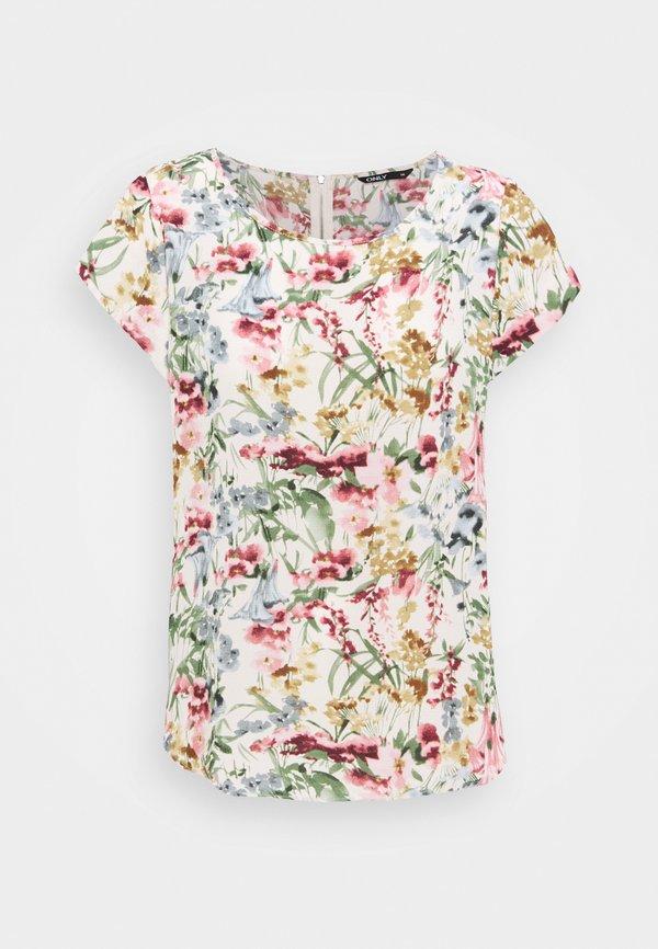 ONLY Tall ONLVIC - T-shirt z nadrukiem - cloud dancer/biały LCYX