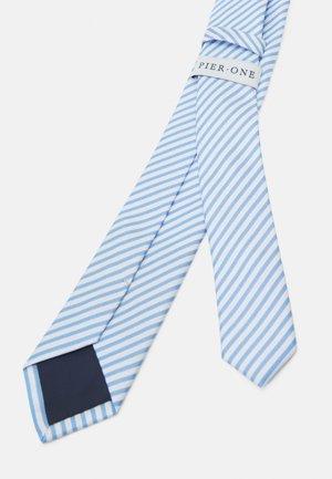 Cravatta - light blue/white