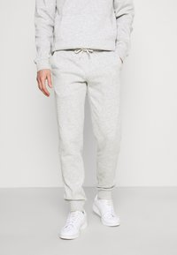 Pier One - 2 PACK - Tracksuit bottoms - mottled light grey/mottled dark blue - 1