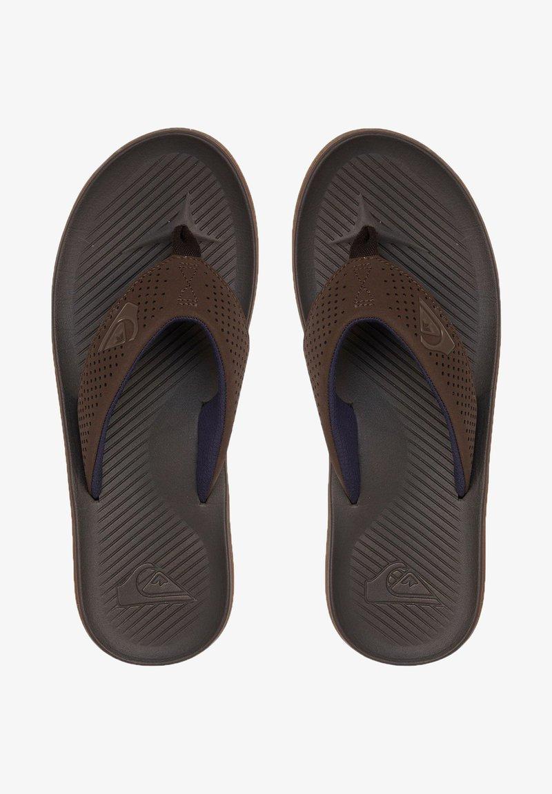 Quiksilver - HALEIWA PLUS - Pool shoes - brown/brown/brown