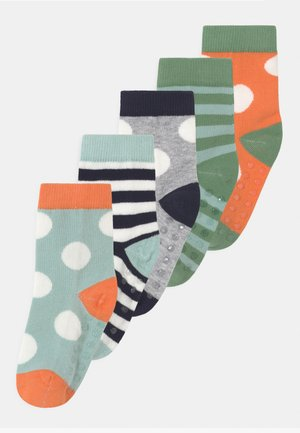 DOTS AND STRIPE 5 PACK UNISEX - Socks - light orange