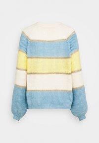 Springfield - BLOCK COLOR  - Strikkegenser - yellow/white/bleu - 1