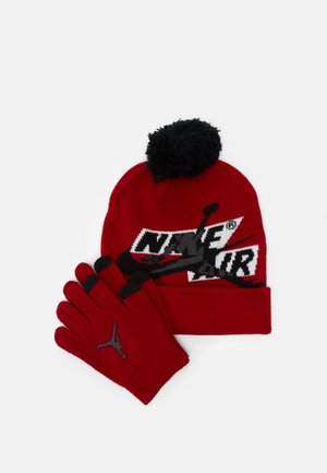 JUMPMAN CLASSICS POM BEANIE SET - Guanti - gym red/black