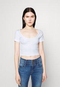 Even&Odd - 3 PACK - Camiseta estampada - black/white/mottled light grey - 3